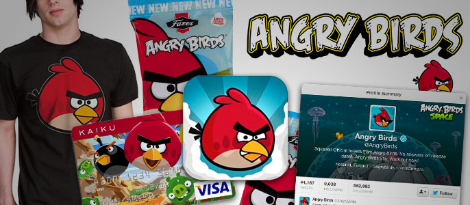 Angry birds logo designed for anything
