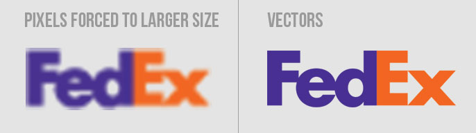 Force up pixel count fedex logo design
